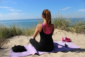 meditation-yoga-woman-girl-sand-beach-exercise