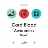 103083678 - vector illustration / july is cord blood awareness month