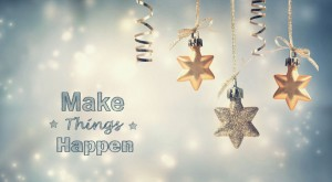 45649389 - make things happen this holiday season with star ornaments
