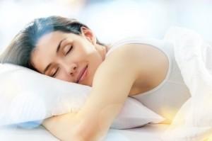 10899214 - beautiful girl sleeps in the bedroom