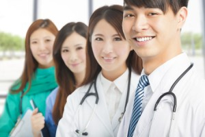 31916201 - professional medical doctor team standing in office
