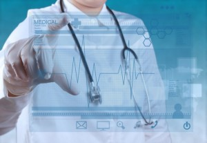 97678181 - medicine doctor hand working with modern computer interface